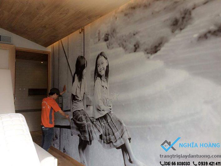 Nhận thi công tranh và giấy dán tường