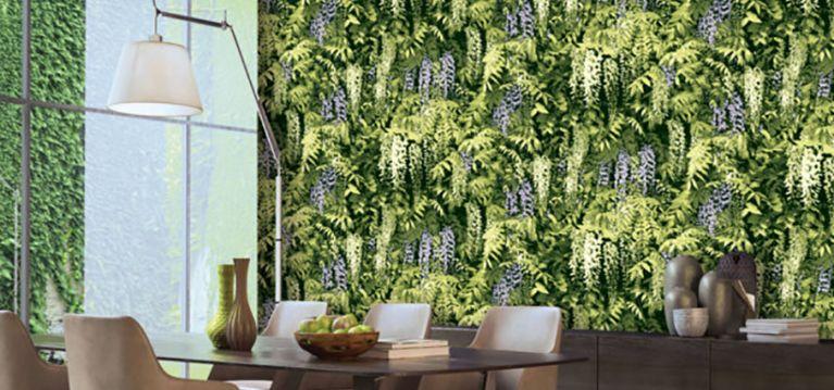 Giấy dán tường giả thảm thực vật
