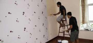 Thi công giấy dán tường đẹp tại Tân Bình