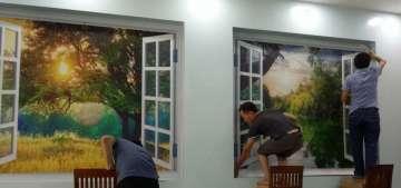 Thi công tranh dán tường giá rẻ tại quận Tân Bình