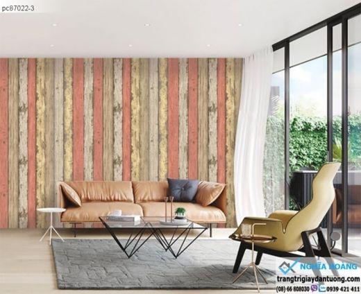 giấy dán tường giả gỗ, giấy dán tường giả gỗ màu