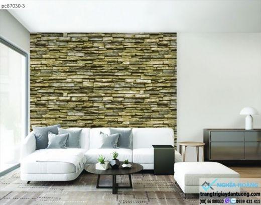 giấy dán tường giả đá 3d, giấy dán tường đá xếp, giấy dán tường đá xưa