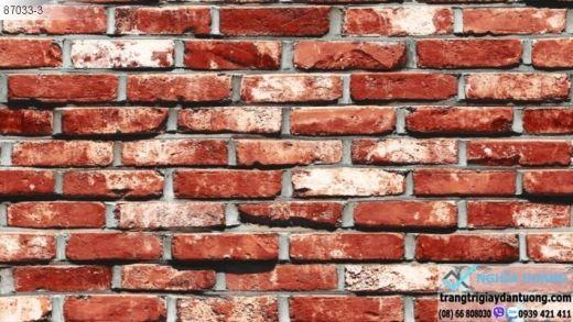 giấy dán tường giả gạch đỏ, giấy dán tường gạch xưa, giấy gạch cổ