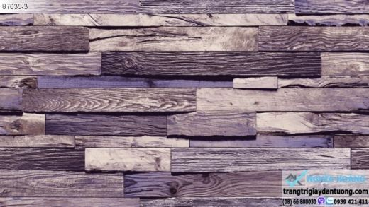 Giấy Dán Tường giả gỗ, giấy dán tường giả gỗ miếng, giay dan tuong go