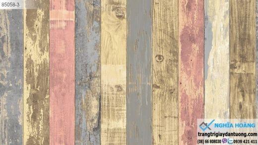 Giấy dán tường giả gỗ màu, giấy dán tường giả gỗ xưa