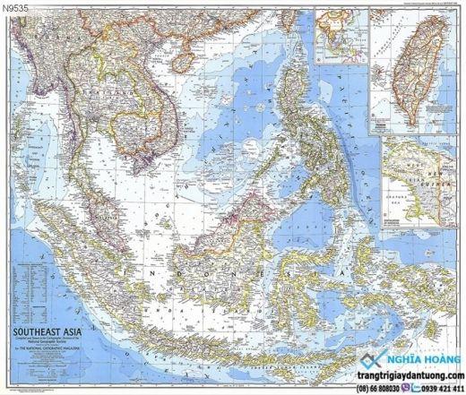Tranh dán tường bản đồ