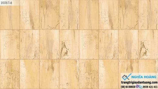 giấy dán tường giả gỗ vuông, giấy dán tường giả gỗ màu vàng