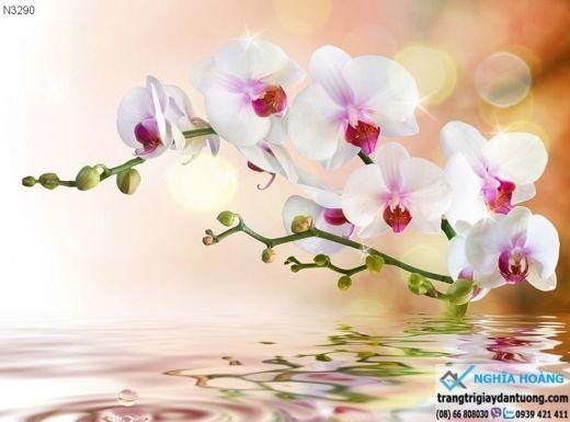 Tranh dán tường hoa lá