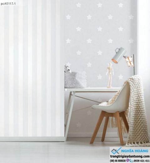 giấy dán tường dạng sọc, giấy dán tường ngôi sao