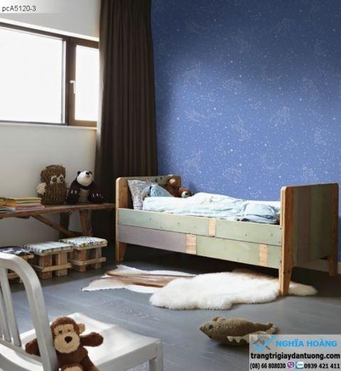 giấy dán tường trẻ em, giấy dán tường ngôi sao, giấy dán phòng bé trai