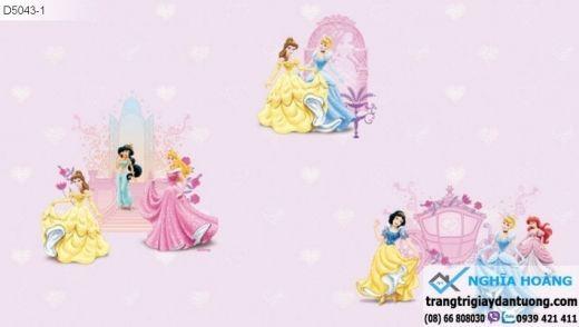 giấy dán tường công chúa, giấy dán tường trẻ em, giấy dán tường bé gái
