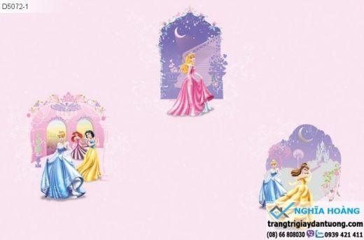 giấy dán tường trẻ em, giấy dán tường công chúa, giấy dán tường bé gái