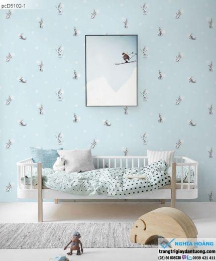 giấy dán tường trẻ em, giấy dán tường hình thú, giấy dán tường em bé