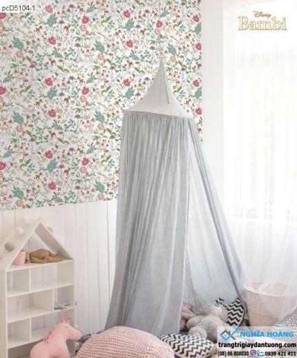 giấy dán tường trẻ em, giấy dán tường vườn thú, giấy dán tường em bé