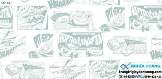 giấy dán tường xe hơi, giấy dán tường bé trai, giấy dán tường siêu xe
