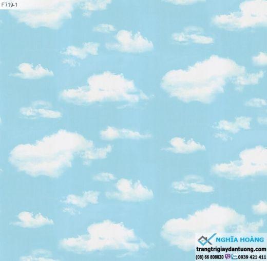 Giấy Dán Tường Wall Art - mây trời, mây xanh, bầu trời xanh, mây trắng, mẫu mây