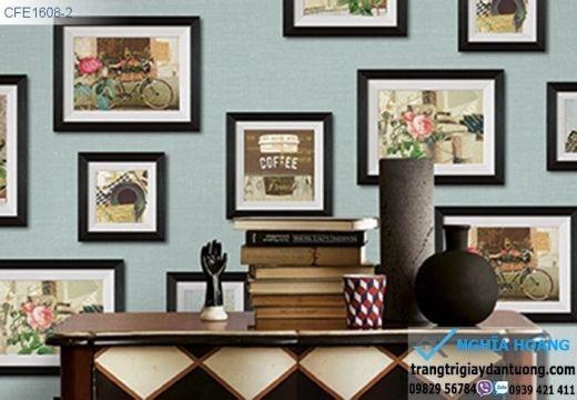 Giấy dán tường khung tranh, giấy dán tường dạng khung ảnh