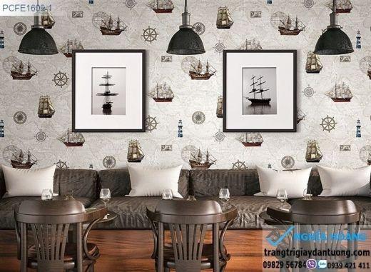 Giấy dán tường thuyền buồn, giấy dán tường thuyền biển