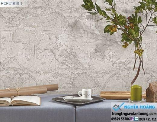 Giấy dán tường bản đồ, giấy dán tường bản đồ thế giới cổ