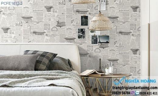 Giấy dán tường mặt báo, giấy dán tường tờ báo xưa