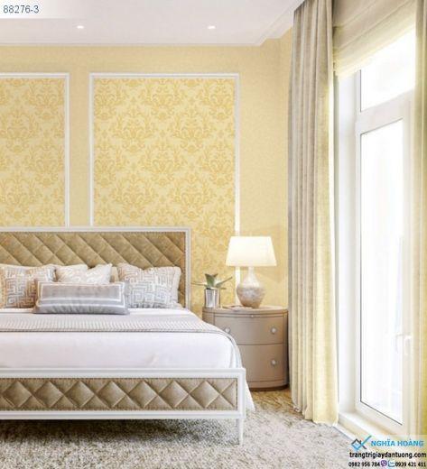 Giấy Dán Tường Regina - dạng hoa văn, mẫu cổ điển, mẫu phòng ngủ