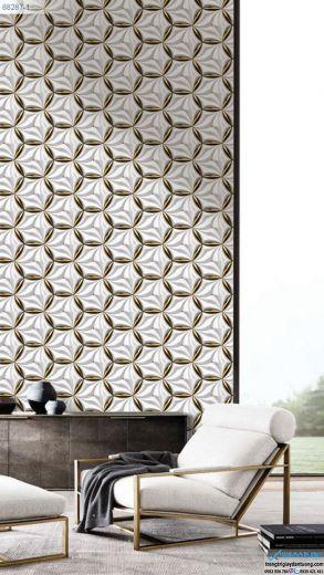 Giấy Dán Tường Regina - mẫu 3d, mẫu hiện đại, mẫu hình tròn