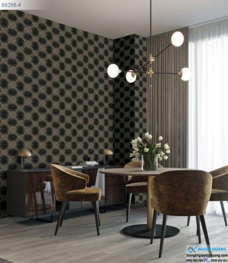 Giấy Dán Tường Regina - mẫu 3d, mẫu hiện đại, màu xám, mẫu phòng ăn