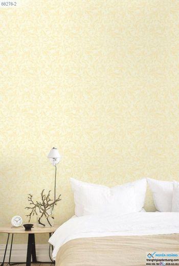 Giấy Dán Tường Regina - mẫu trơn, màu vàng, mẫu phòng ngủ