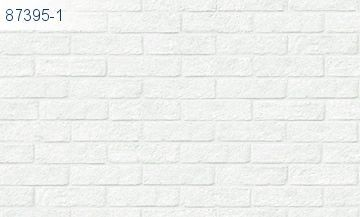 Giấy Dán Tường Lohas - mẫu gạch, giả gạch trắng, gạch màu trắng