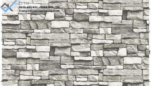 giấy dán tường giả đá, giấy dán tường đá xếp