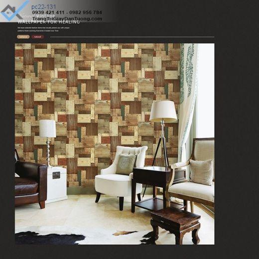 Giấy Dán Tường Giả Gỗ, giấy dán tường vân gỗ