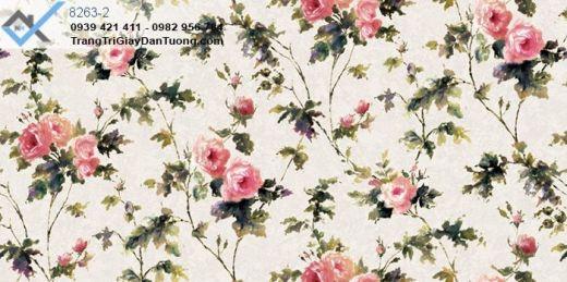 giấy dán tường hoa hồng, giấy dán tường hoa giấy leo