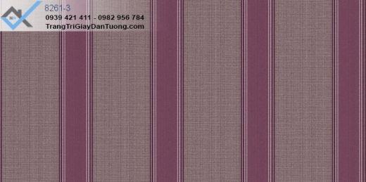 giấy dán tường sọc bản lớn, giấy dán tường sọc màu tím