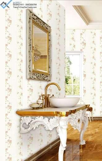 Giấy dán tường hoa hồng, giấy dán tường hoa màu nhạt