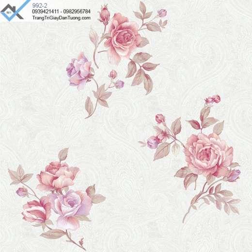 Giấy dán tường hoa lớn, giấy dán tường bông hoa