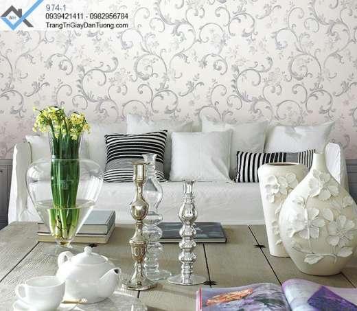Giấy dán tường hoa văn, giấy dán tường bông hoa, giấy dán phòng khách