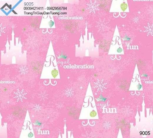 Giấy dán tường trẻ em, giấy dán tường hoa tuyết
