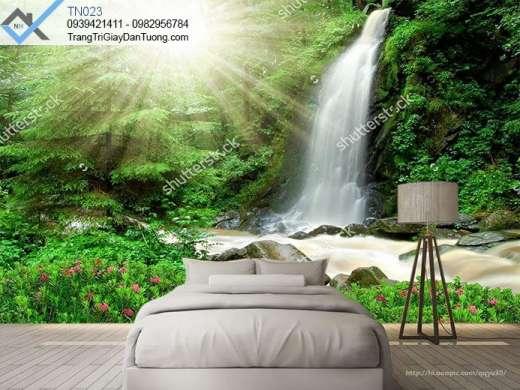 Tranh dán tường thác nước, tranh dán tường dòng thác