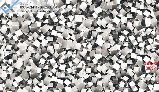 Giấy dán tường 3d hình khối