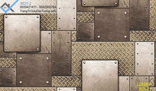 Giấy dán tường tấm thép chống trượt, giấy dán tường giả tấm thép gân