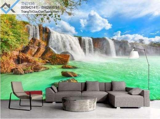 Tranh dán tường thác nước, tranh dán tường spa