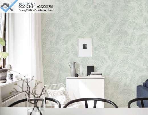 Giấy dán tường lá dương xỉ, giấy dán tường cành lá khô