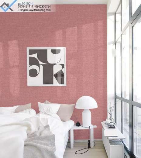 Giấy dán tường màu cam, giấy dán tường vải bố