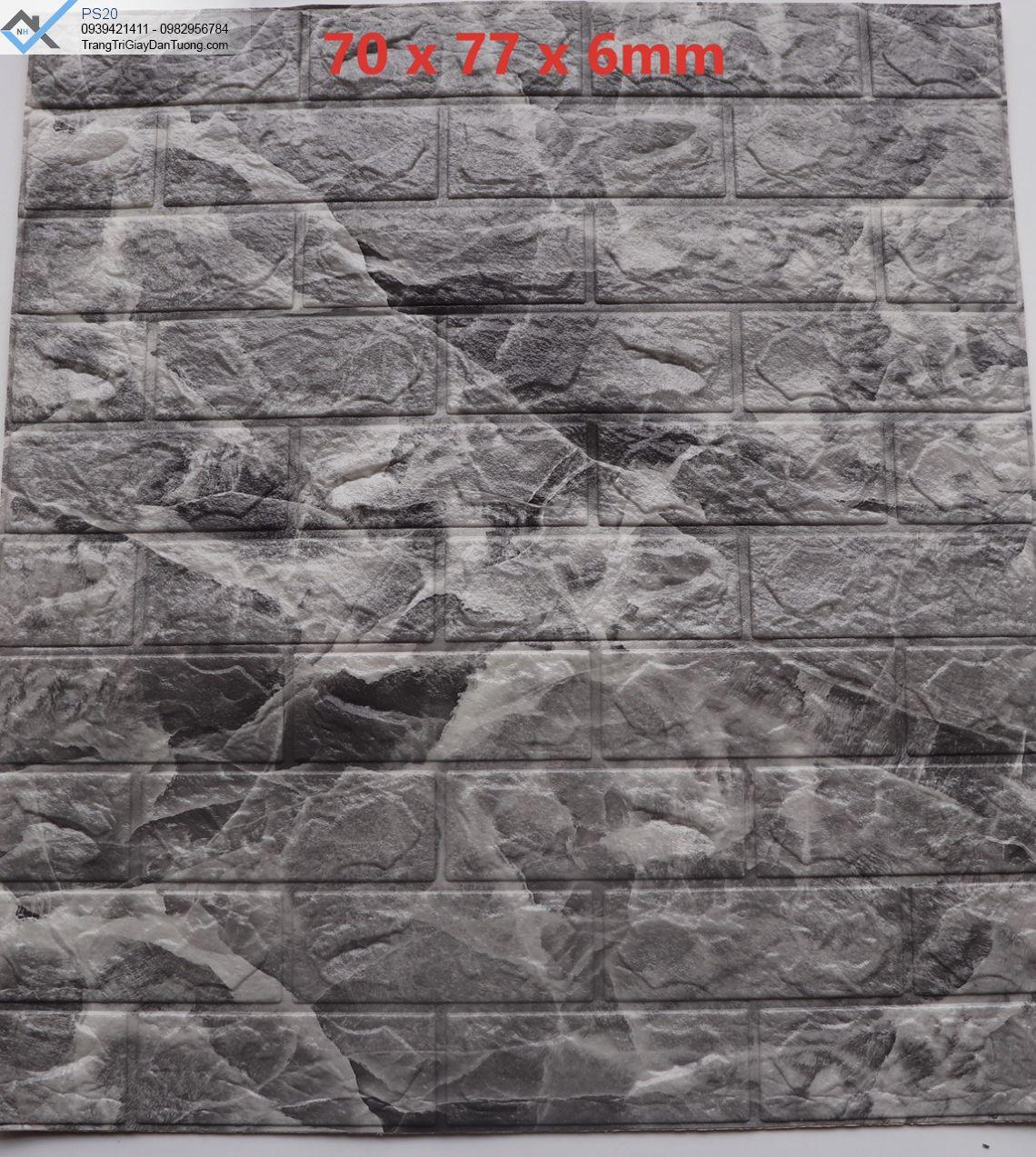 Xốp dán tường giả gạch 3d, xốp dán tường giả gạch vân đá