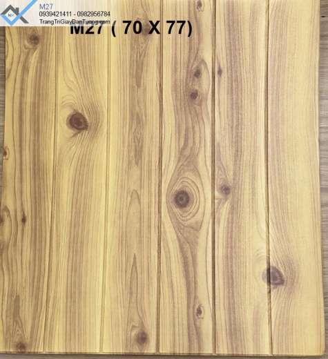 Xốp dán tường giả gỗ, xốp ốp tường vân gỗ