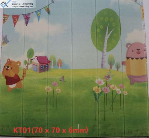 Xốp dán tường trẻ em, xốp dán tường hình thỏ và cá