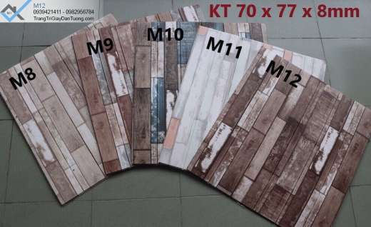 Xốp ốp tường vân gỗ miếng, xốp dán từng giả gỗ miếng
