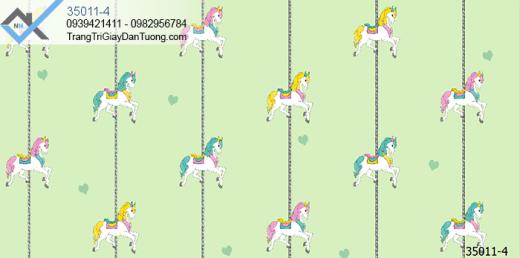 Giấy dán tường hình con ngựa-giấy dán tường khu vui chơi