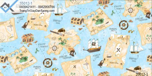 Giấy dán tường thuyền buồn xưa-giấy dán tường biển đảo