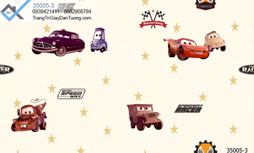 Giấy dán tường xe hơi-giấy dán tường hình ngôi sao